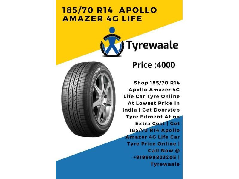 185/70 R14 Apollo Amazer 4G Life Car Tyre Price | Tyrewaal - 1