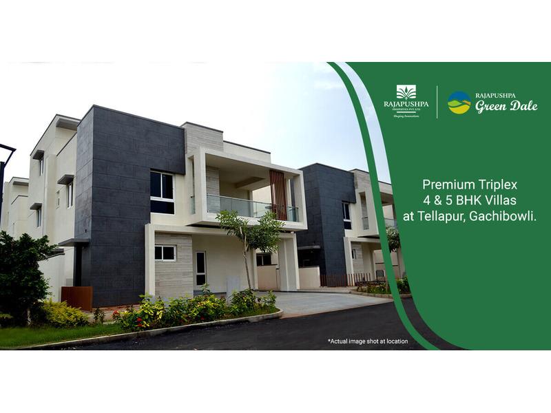 Rajapushpa Green Dale - 4 & 5 BHK Villas for Sale in Gachibowli | Villas in Gachibowli - 1