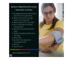 Easy Ways To Control High Blood Pressure Without Medication