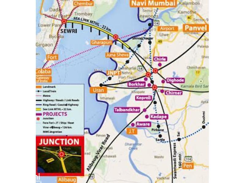 1000 ft² – Land for Sale near Navi Mumbai Airport road - 2